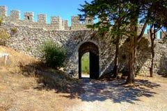 Gate to Moorish Castle in Portugal Stock Image