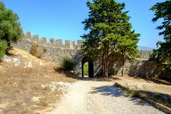 Gate to Moorish Castle in Portugal Stock Images