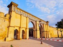 Gate to the Moulay Ismail Mausoleum in Meknes, Morocco Royalty Free Stock Photos