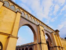 Gate to the Moulay Ismail Mausoleum in Meknes, Morocco Royalty Free Stock Image