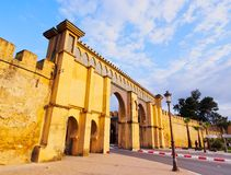 Gate to the Moulay Ismail Mausoleum in Meknes, Morocco Stock Photo