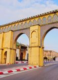 Gate to the Moulay Ismail Mausoleum in Meknes, Morocco Stock Photography
