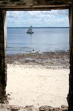 The GAte to Mozambique. Old Gate in the Portuguese old fort in Ilha de Mocambique, Taken at ISland of Mozambique, Mozambique, Africa Stock Photos