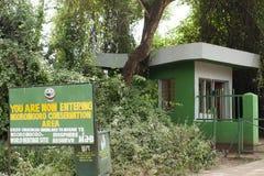 Gate to Ngorongoro Crater Royalty Free Stock Photography