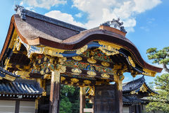 The Gate to Ninomaru Palace at Nijo Castle in Kyoto Royalty Free Stock Images