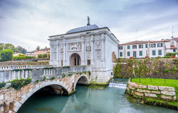 Gate to old city of Treviso Royalty Free Stock Image