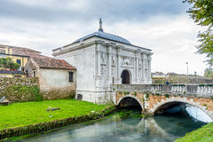 Gate to old city of Treviso Stock Photography