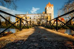 Gate to the old park and Castle Pottendorf in Austria stock photos