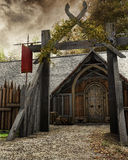 Gate to old settlement Royalty Free Stock Photography