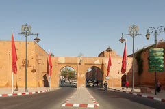 Gate to the old town of Marrakesh Stock Photo