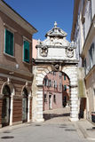 Gate to old town of Rovinj Royalty Free Stock Photography