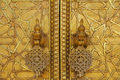 Gate to the palace of the king of Morocco Royalty Free Stock Photos