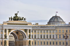 Gate to Palace Square, St. Petersburg, Russia Royalty Free Stock Photography