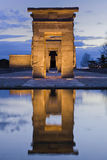 Gate to the past. Reflection of the gate of an egyptian temple Stock Photo