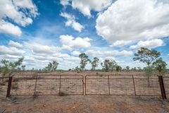 Gate to an outback property in the dry stock photos