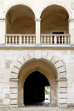 Gate to Pieskowa Skala Palace Stock Photo