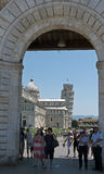 Gate to Pisa monuments - leaning tower, Italy Royalty Free Stock Image