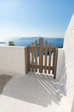 Gate to Property on Santorini Greece Royalty Free Stock Image