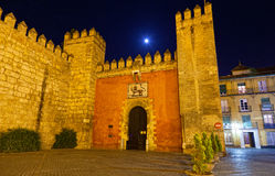 Gate to Real Alcazar Gardens in Seville Royalty Free Stock Image