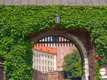 Gate to royal castle, Krakow, Poland Stock Photo