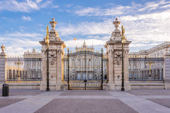 Gate to Royal Palace of Madrid. Royalty Free Stock Image