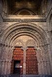 Gate to San Vicente Church in Avila Stock Photo