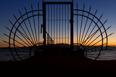 The gate. To the sea royalty free stock images