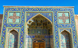 Gate to Shah Mosque in Isfahan Royalty Free Stock Images