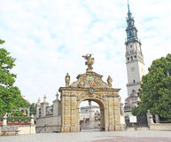 Gate to the shrine of Jasna Gora in Czestochowa Stock Photography