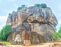 The Gate to Sigiriya Fortress. The giant lion`s paws decorate the gate to Sigiriya Fortress, located on the top of the rock, Sri Lanka royalty free stock photos