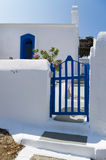 The gate to a small Orthodox church in Kythnos island, Cyclades, Greece Royalty Free Stock Photography