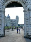 Gate to Square of Miracles, in Pisa Stock Image