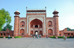 The gate to Taj Mahal Royalty Free Stock Images