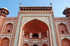 The gate to Taj Mahal Royalty Free Stock Photo