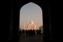 The gate to Taj Mahal Stock Images