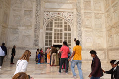 Gate to the Taj Mahal in Agra Royalty Free Stock Photo
