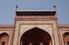 Gate to the Taj Mahal in Agra Stock Photos