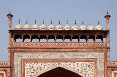Gate to the Taj Mahal in Agra Royalty Free Stock Images