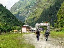 Gate to Tal village - Nepal Royalty Free Stock Photo