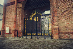 Gate to the tower. Syuyumbike gate tower in Kazan Stock Image