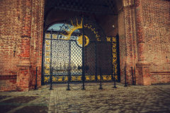 Gate to the tower. Syuyumbike gate tower in Kazan Stock Photography