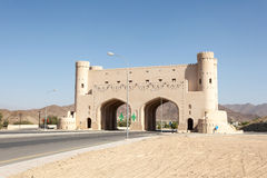 Gate to the town of Bahla, Oman Stock Photos