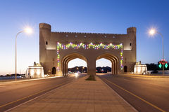 Gate to the town of Bahla, Oman Stock Image