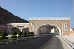 Gate to town of Muttrah, Oman Royalty Free Stock Photography