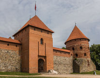 Gate to the Trakai red brick castle Stock Images