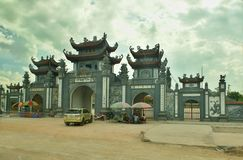 Gate to the Vietnamese Garden. Typical  Gate to the Vietnamese Garden  along the  Hanoi - Ha Long Bay road -  Vietnam Royalty Free Stock Image