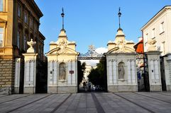 The gate to the Warsaw University campus Royalty Free Stock Photography