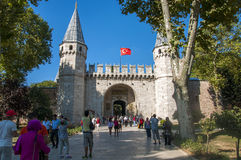 Gate of Topkapi Palace Royalty Free Stock Photos