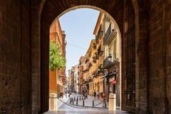 Gate Of Torres de Quart In Valencia Stock Photo