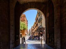 Gate Of Torres de Quart In Valencia Royalty Free Stock Photos